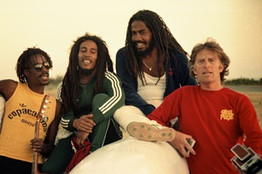 Island founder Chris Blackwell and Bob Marley